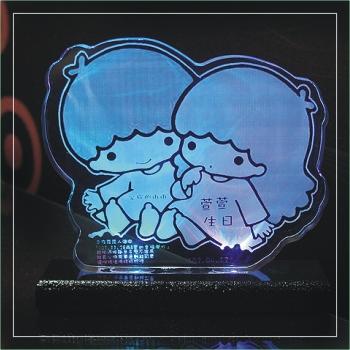 壓克力夜燈 雙子星造形壓克力夜燈